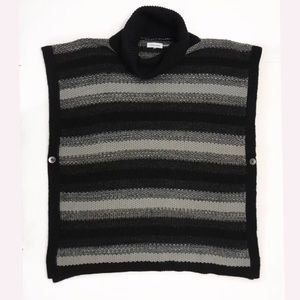Calvin Klein Knitted Poncho Sweater one size